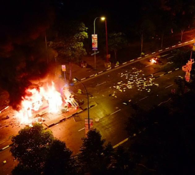 Riots in Little India – Singapore