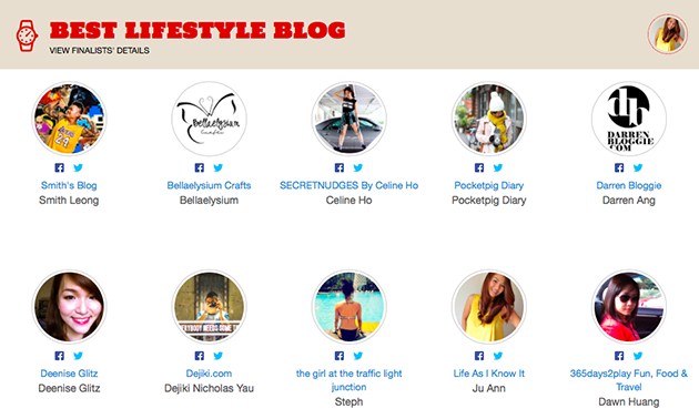 Best Lifestyle Blog in the Singapore Blog Awards 2014