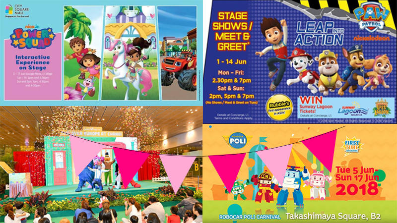 List of Character Appearances This June School Holidays in Singapore!